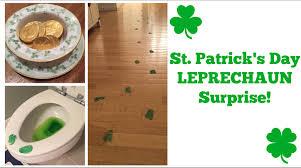 st patrick u0027s day leprechaun surprise youtube