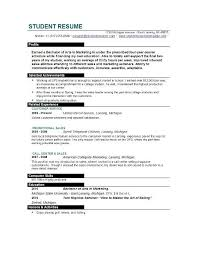 resume template for college students simple resume template for college students template