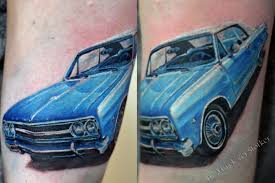 chevrolet tattoo by mirek vel stotker london stotker tattoo