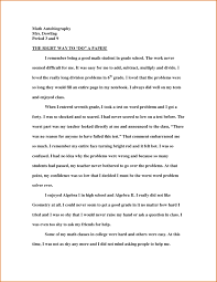 Example Of Autobiography Essay Sample Essay About Describing Yourself