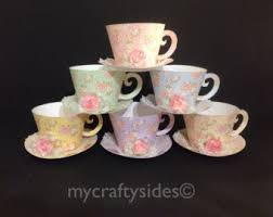 tea cup favors tea cup etsy
