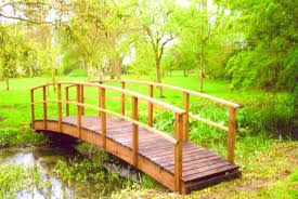 furniture exciting wooden bridge garden feature plans diy small