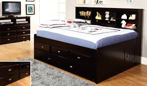 barchan full bookcase bed with trundle roundhill furniture jura