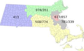 map of area codes list of massachusetts area codes