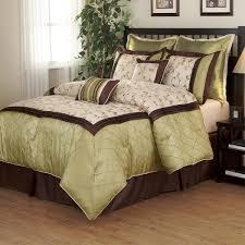 Green Duvet Cover King Savanna Green Brown 8 Piece Comforter Set Free Shipping Today