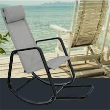 garden elderly chaise lounge balcony courtyard rocking chair