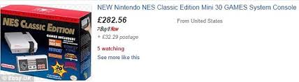what time did the nes classic go on sale at amazon on black friday nintendo nes classic mini edition consoles selling for 5 times