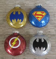 glitter ornaments with vinyl by thehappyhook on etsy