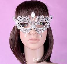 rhinestone masquerade masks hot rhinestone wedding party masks half masks