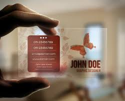 clear buisness cards 4 advantages of plastic business card printing