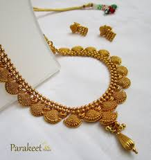 antique necklace set images Gold plated antique necklace set parakeet house jpg