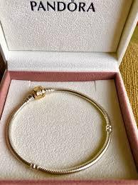 gold clasp bracelet images Authentic pandora 14k gold clasp bracelet g585 ale 7 5 jpg