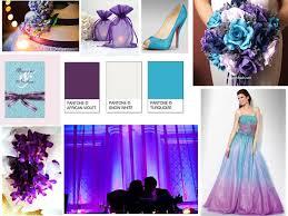 blue and purple wedding violet purple turquoise blue and snow white pantone wedding