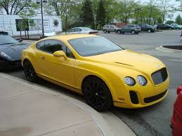 bentley super sport bentley spotting practical yellow bentleys