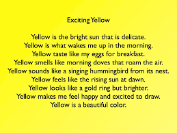 yellow color color poem mrs yoder