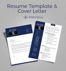 simple premium resume cv design cover letter template 4 psd