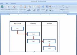 Flow Chart Template Excel How To Embed An Excel Flowchart In Microsoft Word Breezetree