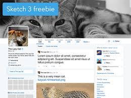 twitter profile sketch 3 template sketch freebie download free