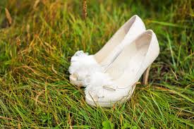wedding shoes for grass white wedding shoes on green grass stock image image of luxury