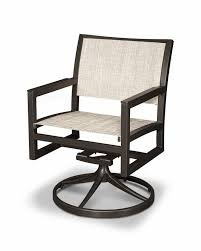 Swivel Patio Dining Chairs Trex Parsons Swivel Patio Dining Chair Reviews Wayfair