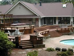 cool deck designs cool small backyard decks amp patios on with hd