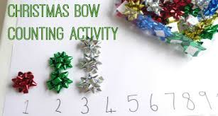 christmas bow counting activity pre k pages
