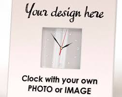 personalized anniversary clock custom wall clock etsy