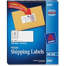 avery 8463 white inkjet shipping labels permanent adhesive 2