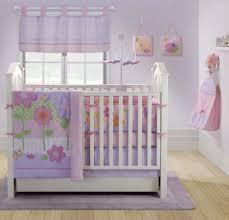 Purple Nursery Decor Baby Nursery Charming Baby Room Decoration Using White Crib And