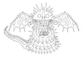 how to train your dragon coloring pages screaming death dragon
