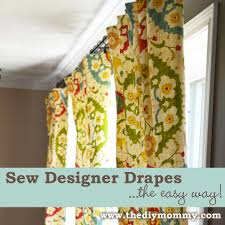 Sewing Curtains With Lining Sew Designer Drapes The Easy Way The Diy Mommy