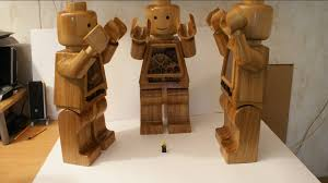 lego made from wood diffirent version oak ilvy