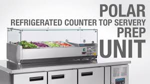 Nisbets by Polar Refrigerated Counter Top Servery Prep Unit G609 U0026 G608