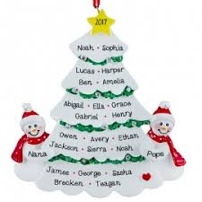 grandparents snow tree many names ornament resin