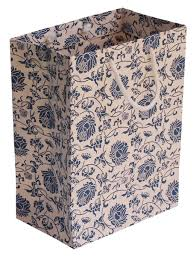 bulk gift bags blue white eco friendly 8x10 paper bag with floral pattern