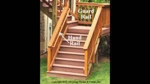 wooden deck stair railing wood deck stair railing installation