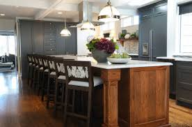 Grey Blue Cabinets Two Tone Blue And White Kitchen Design Ideas
