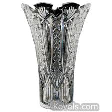 Vintage Waterford Crystal Signed 8 Inch Flower Vase In Antique Waterford Glass Price Guide Antiques U0026 Collectibles