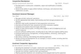 Handyman Resume Examples by Carprentry Resume Reentrycorps