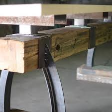 bar height table industrial post beam rustic industrial bar height table the industrial