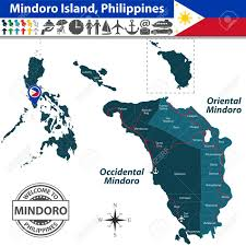 Phillipines Map Mindoro Island Philippines Map Contains Provinces Oriental
