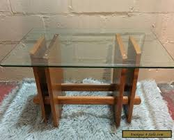 vintage mid century modern coffee table vintage mid century modern side table danish teak wood glass for