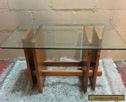 teak wood side table vintage mid century modern side table danish teak wood glass for