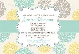 modern whimsical flower bridal baby shower invitations printable