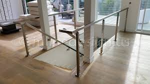 Stainless Steel Banister Rail Stainless Steel Handrail Wall Bracket Square Magnetar Inline Design