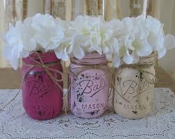 sale set of 3 pint mason jars painted mason jars baby
