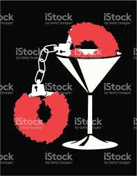 Human Anatomy Martini Martini Glass With Fuzzy Handcuffs Stock Vector Art 165043595 Istock