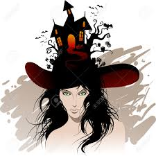 vintage witch illustration 17 904 witch hat stock vector illustration and royalty free witch