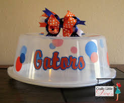 florida gators home decor florida gators cake carrier personalized cake carrier
