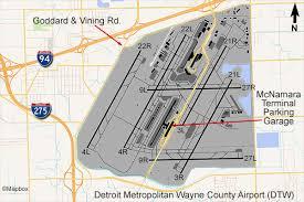 detroit metro airport map detroit airport flightline aviation media planespotting guide